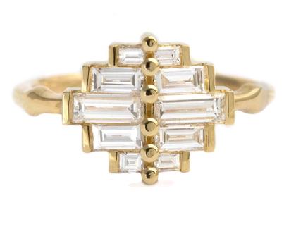טבעת האירוסין באגט מצרר לטבעת-דקו בגטים