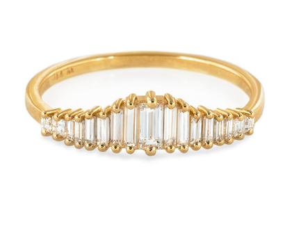 טבעת אירוסין בסגנון ארט-דקו-טבעת כתר יהלום