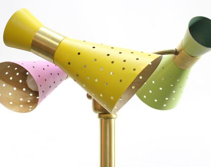 מנורת רצפה סטיל נובו, מנורת רצפה וינטאג׳ צבעונית