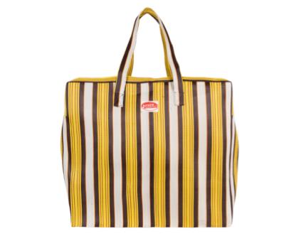 תיק נסיעות גדול פסים צהוב | KITSCH KITCHEN | SOFI