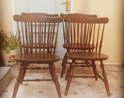 כסאות עץ וינדזור