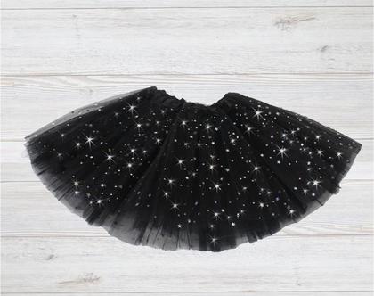 חצאית טוטו שחורה נוצצת