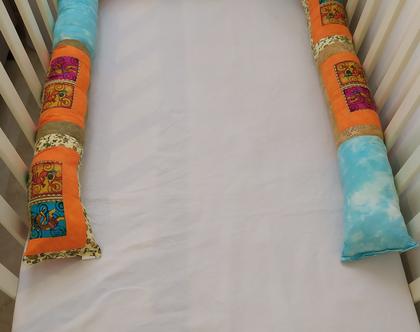 נחשוש אינדיאנים מרקדים - נחשוש עבודת יד | נחשוש מעוצב | נחשוש מפנק | מגן ראש למיטה | כרית נחש |עיצוב חדרי תינוקות | מתנה ליולדת | מתנה לתינו