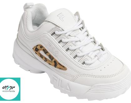 נעלי פילה דיסרפטור לילדים בצבע לבן מנומר FILA Disruptor KASIN white