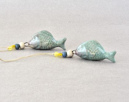תליון דג תכלת מקרמיקה