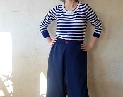 מכנסיים נשים | מכנס עם חגורת גומי | מכנס רחב