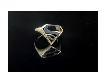 טבעת סופר וומן כסף ליום האשה עבודת יד