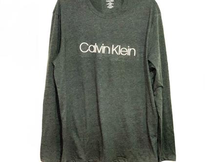 Calvin Klein | סווטשירט אפור לוגו לבן קלווין קליין