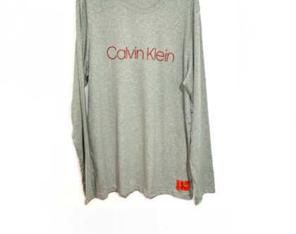 Calvin Klein | סווטשירט אפור לוגו אדום קלווין קליין