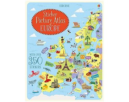 חוברת מדבקות אטלס אירופה