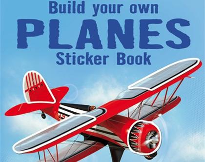 חוברת מדבקות גדולה מטוסים