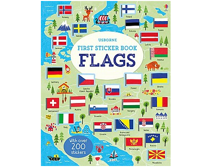 חוברת מדבקות דגלים