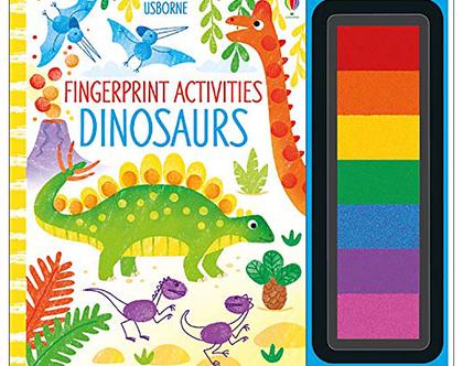 יצירה בטביעות אצבעות-דינוזאורים