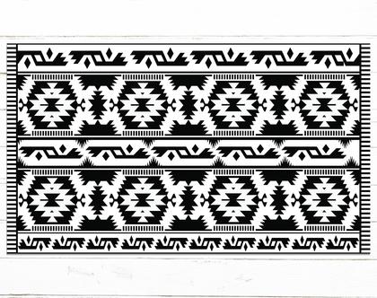 שטיח pvc למטבח | שטיח פי.וי.סי | שטיח למטבח | שטיח pvc שחור לבן | שטיח פי וי סי (1052)