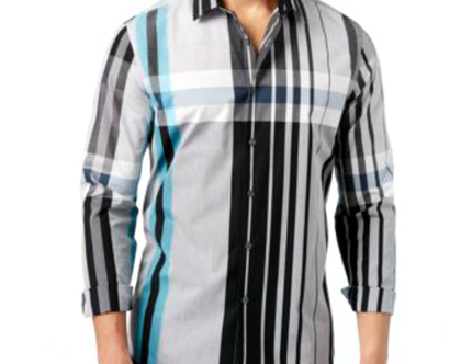 Alfani | חולצת משבצות אופנתי אלפני