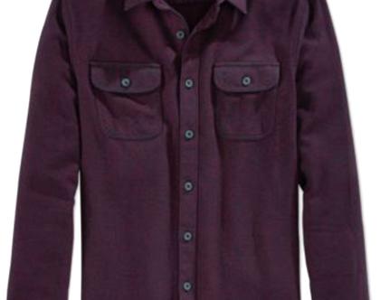 American Rag | חולצת פלנל בורדו אמריקן ראג