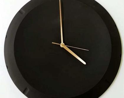 שעון קיר, שעון שחור, שעון קיר מעוצב, שעון קרמיקה, שעון, שעון גדול, שעוני קיר, שעונים, שעון קיר לבית, שעון קיר למשרד, קרמיקה עבודת יד