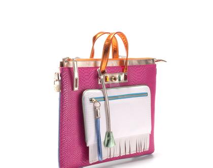 תיק לפטופ צבעוני לנשים, תיק ייחודי למחשב נייד מדמוי עור איכותי, תיק ללא עור, צמחוני, טבעוני בעבודת יד | תיקים - FruitenVeg [CLONE]