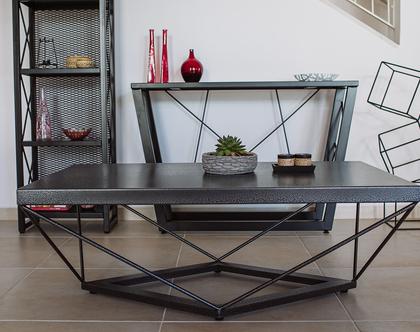 שולחן סלון מברזל