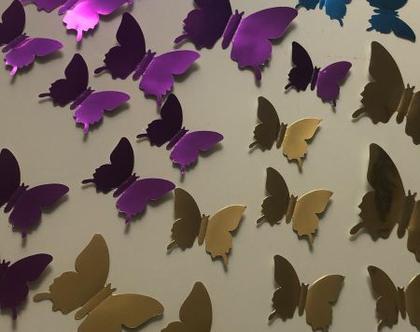 פרפרים תלת מימד לקישוט הקיר