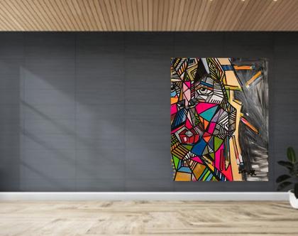 תמונה לבית של הציירת ענבר רייך, ציור צבעוני של ענבר רייך, אמנות ישראלית מקורית, הדפסים משודרגים וציורים מקוריים למכירה, ענבר רייך ציירת.