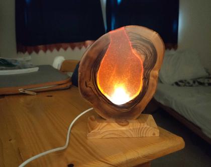 מנורת אווירה כתומה