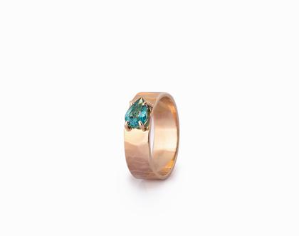 טבעת ספיר טיפה