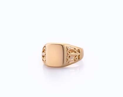טבעת חותם דוגמה מנוסרת