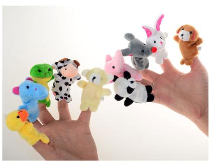 סט מקסים של 10 בובות אצבע