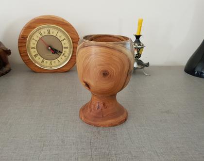 גביע עץ עבודת יד