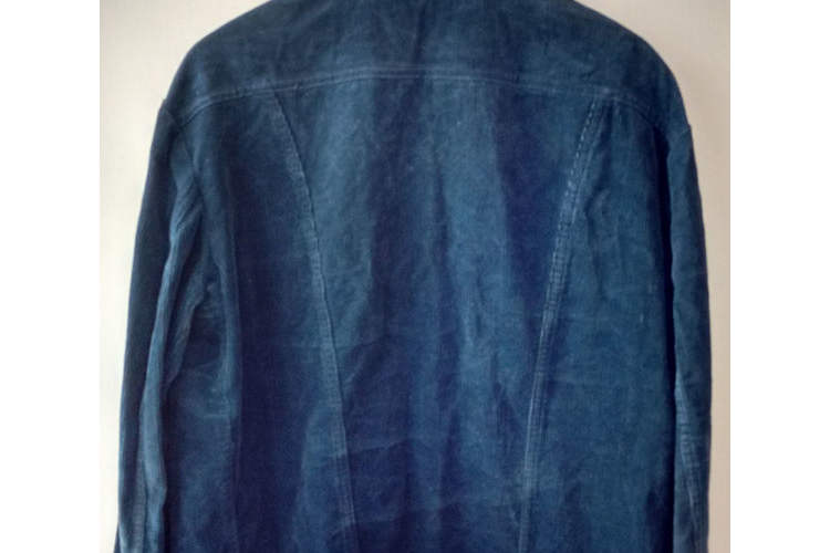 ז'קט קורדרוי LEE לגבר סבנטיז | ז'קט וינטג' LEE | ז'קט קורדרוי כחול סבנטיז | ג'קט וינטג' לגבר מידה XL- L