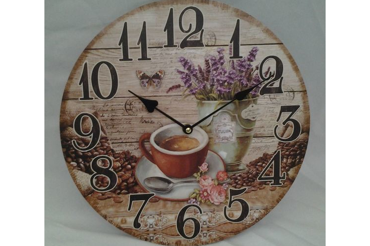 שעון עץ קוטר 34