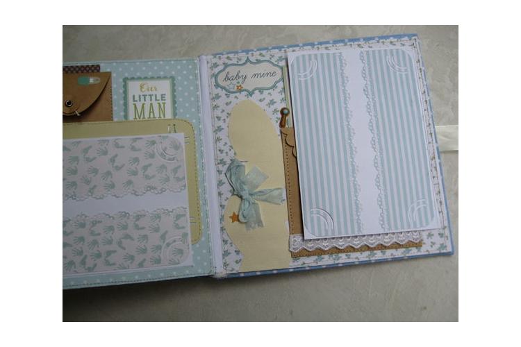 אלבום כריכת בד | מתנה לתינוק דגם דניאל