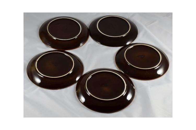 5 צלחות וינטג' של פלקרמיק - קרמיקה ישראלית