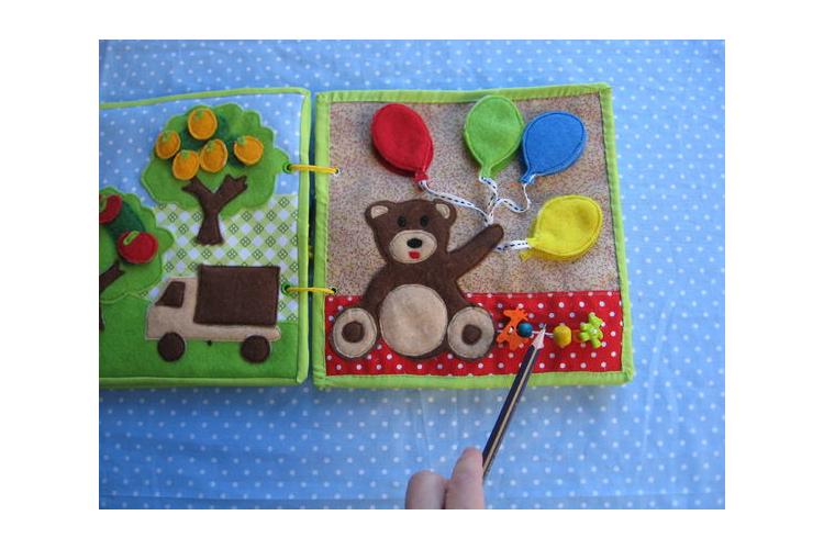 משחק מתוך ספר פעילות לגילאי 1.2-4 / משחק הכרת הצבעים / ספר פעילות לגיל הרך / דגם דובי עם בלונים / גילאי 1.2-4