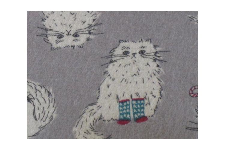 כרית גדולה לחימום במיקרוגל בהדפס חתולים עם גרביים I כרית חימום מכותנה עם פרחי לבנדר I מתנה נפלאה לאוהבי חתולים I מתנה מיוחדת לחג I