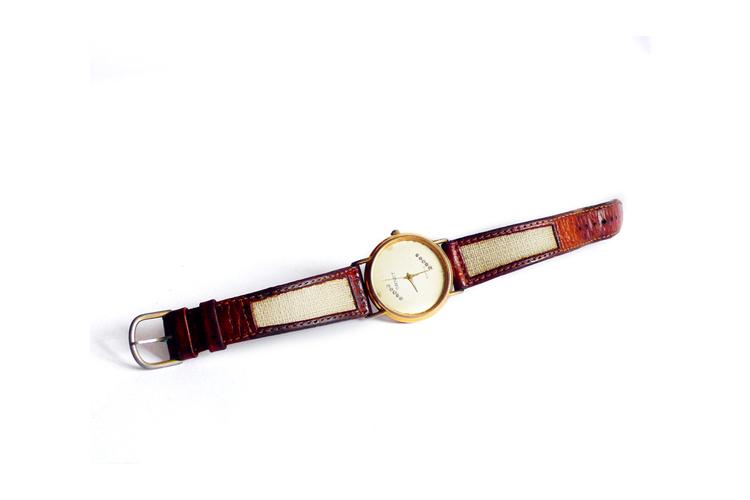 שעון יד לאישה   שעון ornet וינטג' ציפוי זהב רצועות עור   שעון קלאסי אלגנטי