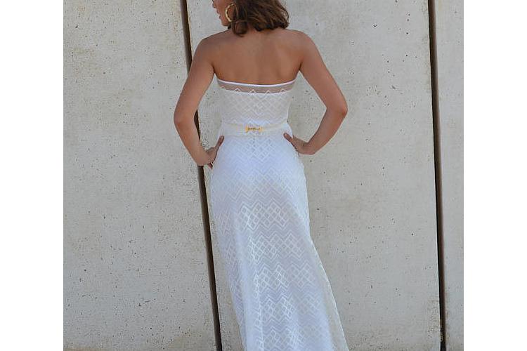 שמלת כלה סטרפלס תחרה