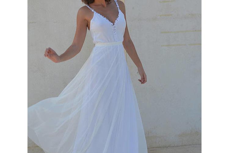 שמלת כלה בוהו שיק פשוטה
