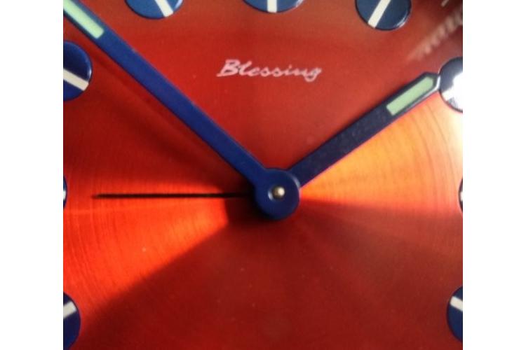 שעון סיקסטיז דקורטיבי מעוצב BLESSING   שעון מקורי משנות ה70'   שעון וינטג' פריט אספנות משנת 1967