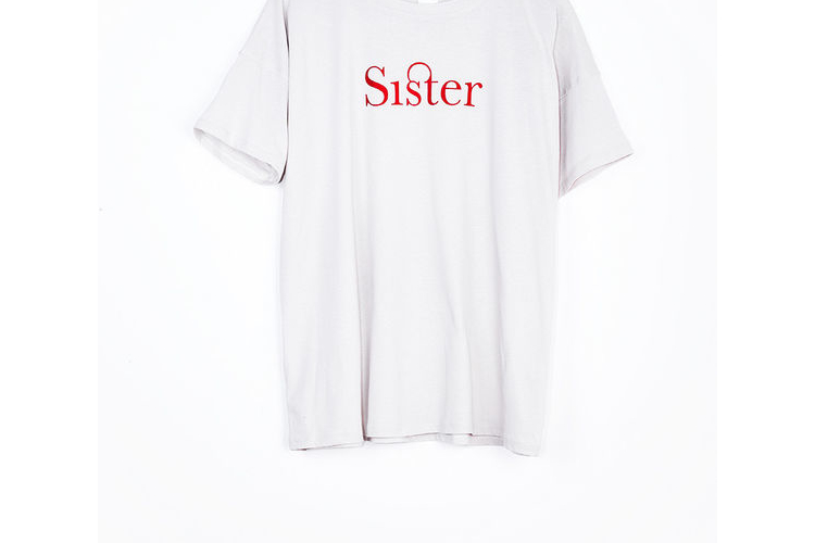Sister טישרט, חולצה לבנה, טישרט מודפסת, חולצה קצרה, חולצה מיוחדת