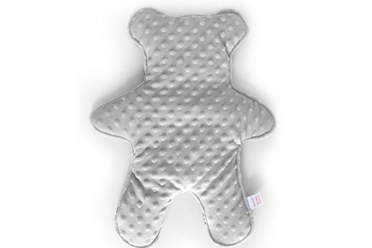 דובון חיבוקון בצבע אפור לתינוק או לתינוקת   כרית דובי מעוצבת   חפץ מעבר שמיכי