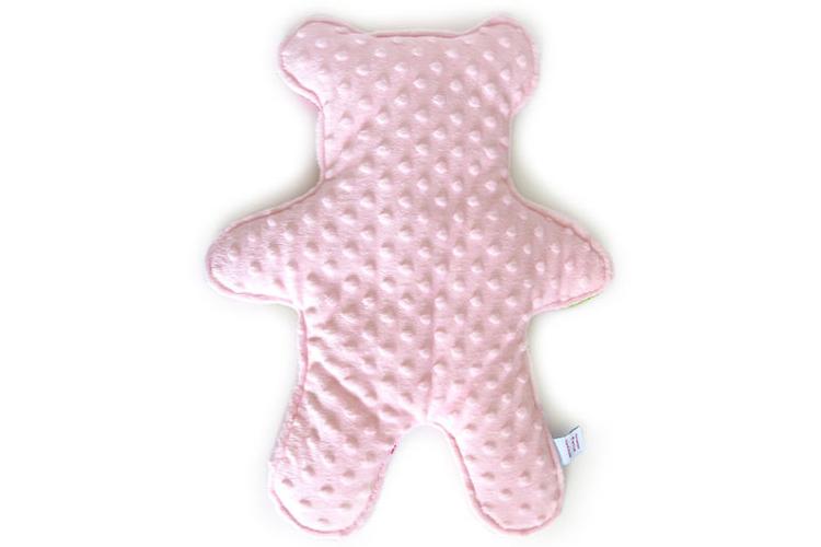 מארז לידה טריפל ורוד | דובון חיבוקון בשילוב נחשוש ופנקס בייבי לוג | מגן ראש מעוצב בצירוף כרית מפנקת ויומן סדר יום לתינוק/ת | חפץ מעבר
