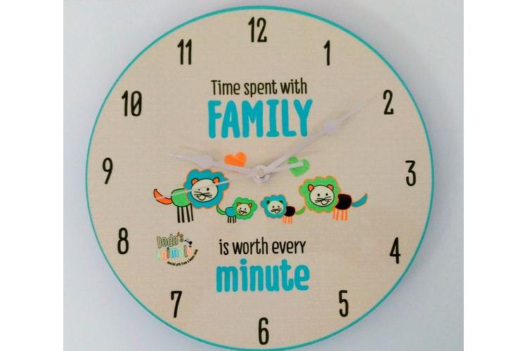שעון קיר משפחת אריות
