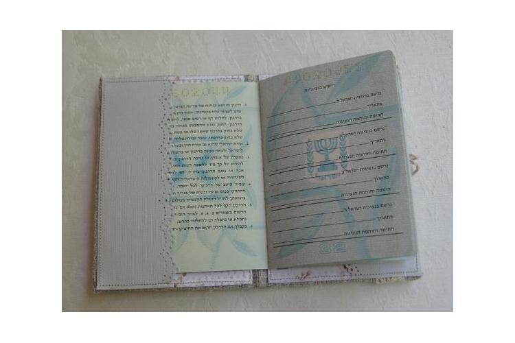חדש!!! כיסוי לדרכון לגבר דגם רטרו / נרתיק לדרכון / כיסוי לדרכון בעבודת יד