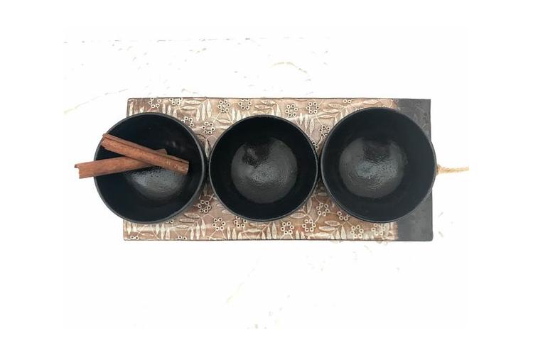 קערות קרמיקה שחורות | קערה מעוצבת | קערה להגשה | קערה לפיצוחים | קערת פירות | קערת תותים | קערת טפאס