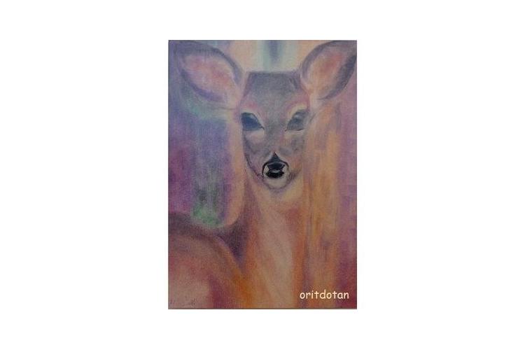 עופר, תמונה לילדים, כרטיס ברכה לילדים, ציור מקורי צויר בצבעי מים