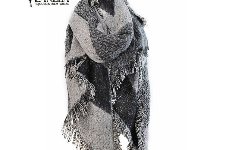 Zanzea חורף אופנה נשים צעיף קשמיר פשמינה צמר צעיף חם, צעיפים עבים