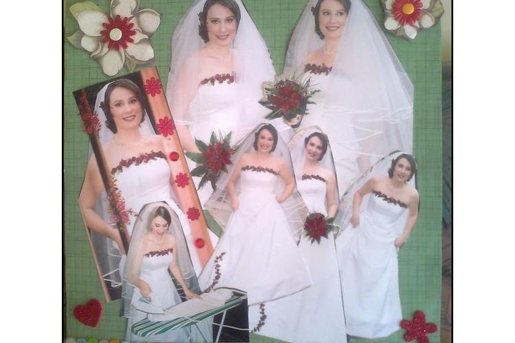 אלבום חתונה מעוצב בעבודת יד
