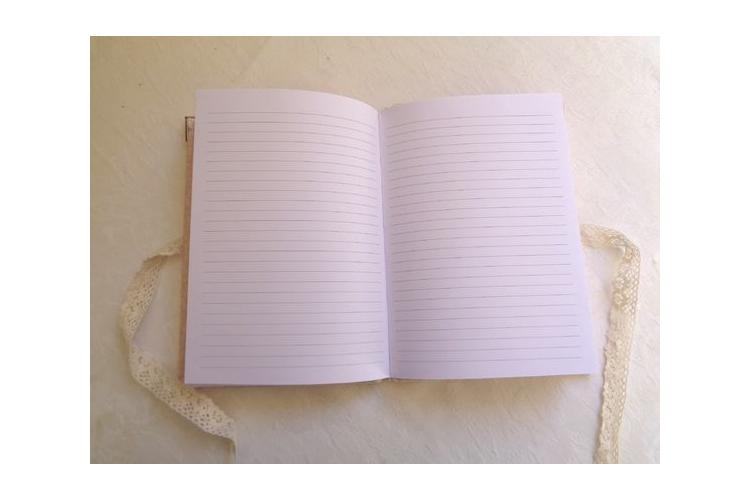 מחברת מעוצבת / דגם בלרינה / משלוח מיידי/ ספר זכרונות מעוצב